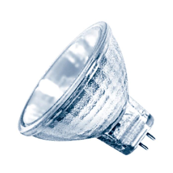 Низковольтные галогенные лампы с отражателем ЭРА GU5.3-MR16-35W-12V-Cl обеспечивают направленный световой поток под определенным углом для акцентного освещения и не требуют использования дополнительного трансформатора.  Галогенные лампы - это следующая, после ламп накаливания, ступень эволюции светотехники. Благодаря добавлению паров галогенов (йода или брома) в инертный газ, удается избежать оседания частиц вольфрама на колбе лампы, а это в свою очередь делает лампу гораздо ярче и увеличивает срок ее службы на 20-30% за счет большей сохранности нити накаливания.  Галогенные лампы широко используются в тех светильниках, где применение обычных ламп невозможно из-за особенностей конструкции, например, в дизайнерских люстрах, бра и торшерах, в точечной подсветке, в ограниченном пространстве (освещение холодильников, багажников и бардачков автомобилей) и т.д. Разнообразие форм, размеров и способов крепления галогенных ламп позволяет подобрать любую комбинацию для самых неординарных решений по освещению интерьера.