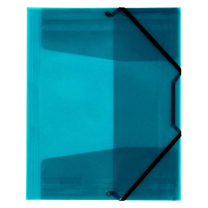 Папка на резинке Erich Krause Diagonal, цвет: бирюзовый папка на резинке erich krause серая упаковка 6 шт