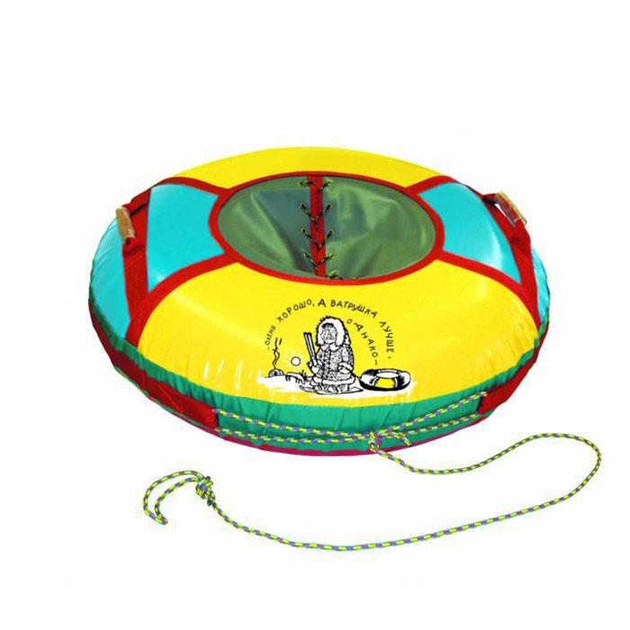 Санки надувные Люкс, средниеАрт2121123004206Любимая зимняя забава - это кататься с горки. Надувные санки Люкс - это яркие круглые санки, характеризующиеся улучшенным дизайном, они выполнены из износостойкого материала и отлично выдерживают повышенные нагрузки.Санки оборудованы плотной лентой для удобной буксировки, конструкция которой, при рывке, распределяет нагрузку равномерно по всему периметру и двумя усиленными ручками. Надувные санки Люкс - это отличный вариант для тех, кто любит весело проводить время, катаясь с горки с утра до ночи. Также, такие санки станут отличным подарком любителю экстремального спорта и отдыха на свежем воздухе.Комплектация: автомобильная камера согласно ТУ, упаковочный чехол, инструкция по эксплуатации на русском языке. Характеристики:Материал: ПВХ, текстиль. Вес: 3 кг. Рекомендованное давление: 0,08 атм. Максимальная нагрузка: 90 кг. Используемые камеры: R-15. Плотность материалов дна : 900 г/м. Диаметр санок (накаченном виде): 80 см.Артикул: Арт2121123004206.УВАЖАЕМЫЕ КЛИЕНТЫ!Просим обратить ваше внимание на тот факт, что камера санок поставляется в сдутом виде и надувается при помощи насоса (насос не входит в комплект).