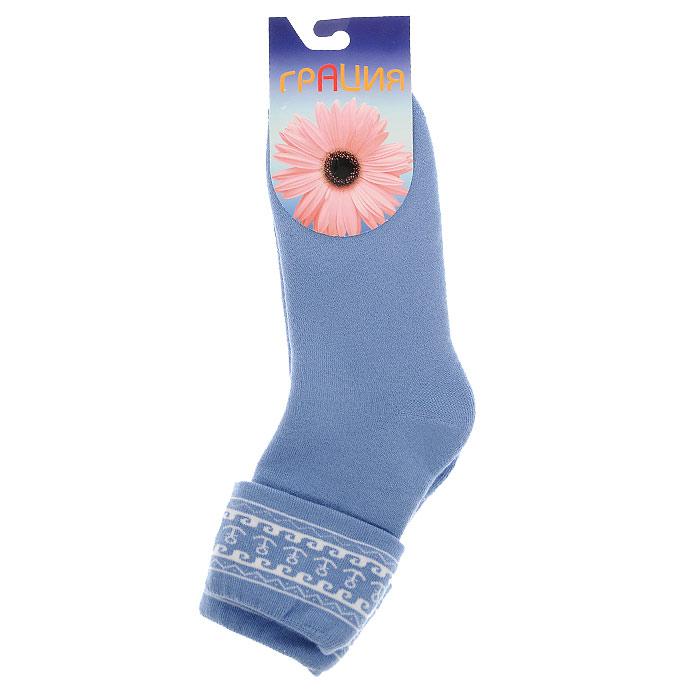 Носки женские Грация, цвет: темно-голубой. М 1075 7. Размер 2 (38/40)М 1075 7Носки, изготовленные из высококачественного сырья. Комфортная широкая резинка не сдавливает ногу.Идеально подходят для занятий спортом и активного отдыха!