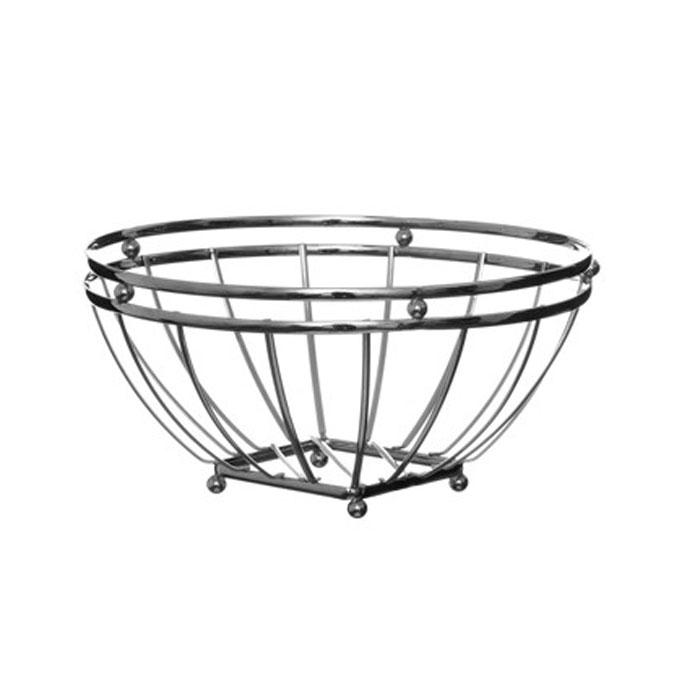 Корзина для фруктов Premier Housewares, диаметр 24 см0509651Корзина для фруктов Premier Housewares, изготовленная из нержавеющей стали, идеально впишется в интерьер современной кухни. Корзина состоит из металлических прутьев, которые крепятся к квадратному основанию. Очень вместительная корзина будет отличным подарком. Характеристики:Материал: нержавеющая сталь. Диаметр корзины: 24 см. Высота стенок: 11,5 см. Артикул: 0509651.