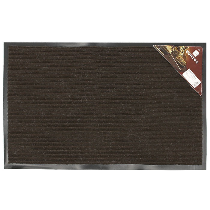 Коврик придверный Vortex, влаговпитывающий, цвет: коричневый, 50 см х 80 см22084Придверный влаговпитывающий коврик Vortex коричневого цвета выполнен из ПВХ и полиэстера. Он прост в обслуживании, прочный и устойчивый к различным погодным условиям. Лицевая сторона коврика ребристая. Прорезиненная основа коврика предотвращает его скольжение по гладкой поверхности и обеспечивает надежную фиксацию. Такой коврик надежно защитит помещение от уличной пыли и грязи. Характеристики:Материал:ПВХ, полиэстер. Размер коврика:50 см х 80 см. Цвет:коричневый. Изготовитель:Китай. Артикул:22084.