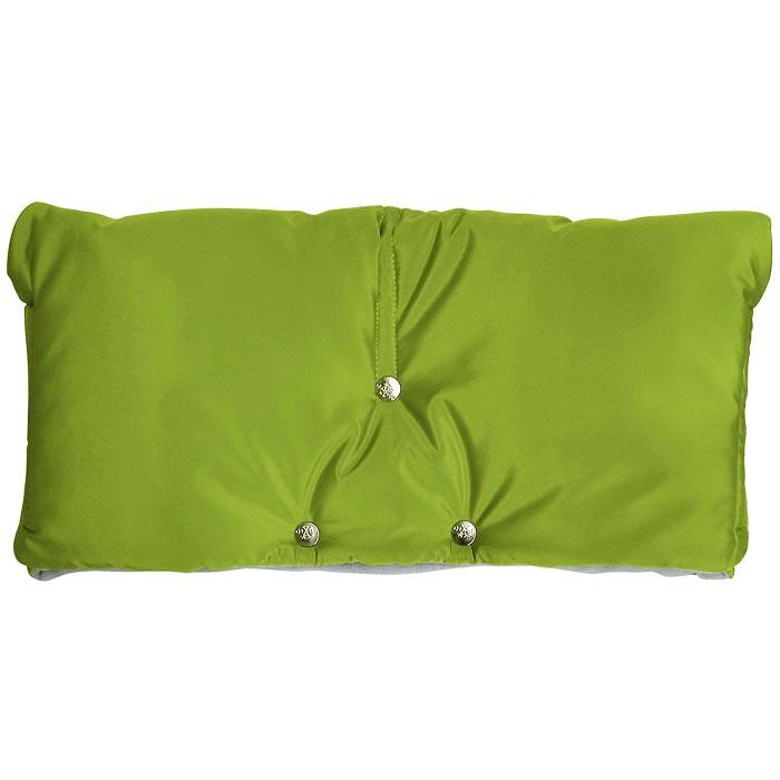 """Муфта для рук на коляску """"Чудо-Чадо"""", флисовая, цвет: светло-зеленый"""