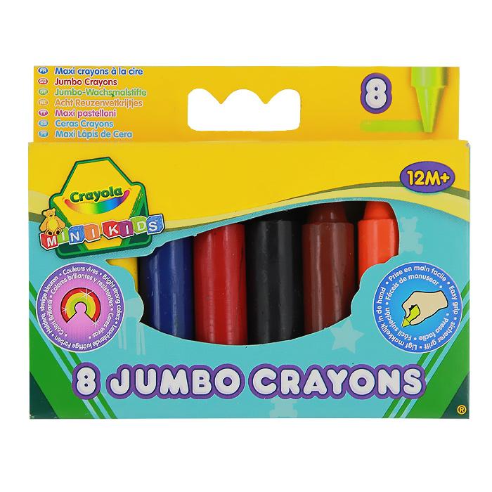 Восковые мелки Crayola Для самых маленьких, 8 цветов0080Восковые мелкиCrayola созданы специально для самых маленьких художников. Мелки обеспечивают удивительно мягкое письмо, не ломаются, обладают отличными кроющими свойствами и легко отмываютсяс одежды или мебели с помощью теплой воды и мыла. Круглый утолщенный корпус особенно удобен для маленьких детских ручек. В изготовлении мелков использовались абсолютно безопасные натуральные материалы. Мелки окрашены в яркие, насыщенные цвета, которые так нравятся малышам.Желтый, красный, оранжевый, зеленый, синий, черный, коричневый и сиреневый - восковые мелки позволят создавать малышу на бумаге самые красочные рисунки.Восковые мелкиCrayola помогают малышам отлично развить мелкую моторику ручек, координацию движений, воображение и творческое мышления, стимулируют цветовое восприятие, а также способствуют самовыражению. Характеристики:Диаметр мелка: 1,4 см. Длина мелка: 6,7 см. Рекомендуемый возраст: от 12 месяцев. Размер упаковки: 11,5 см х 9 см х 1,5 см. Изготовитель: Мексика.