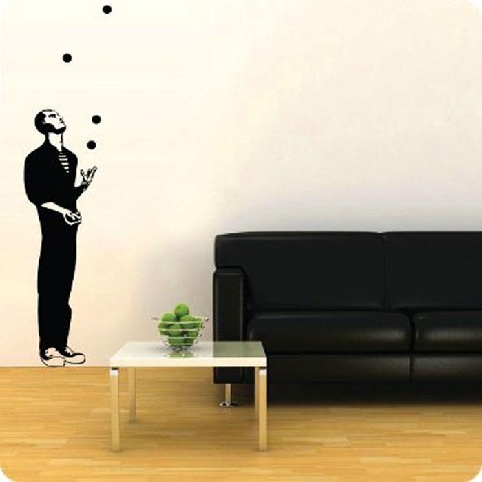 """Стикер Paristic """"Жонглер"""", цвет: черный, 169 х 41 см, Paris-Paris"""