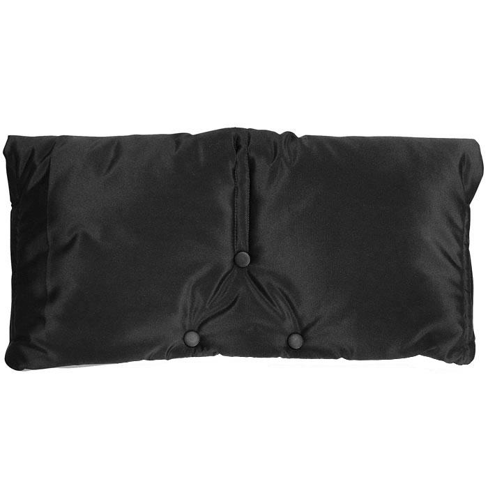 Муфта для рук на коляску  Чудо-Чадо , флисовая, цвет: черный - Коляски и аксессуары