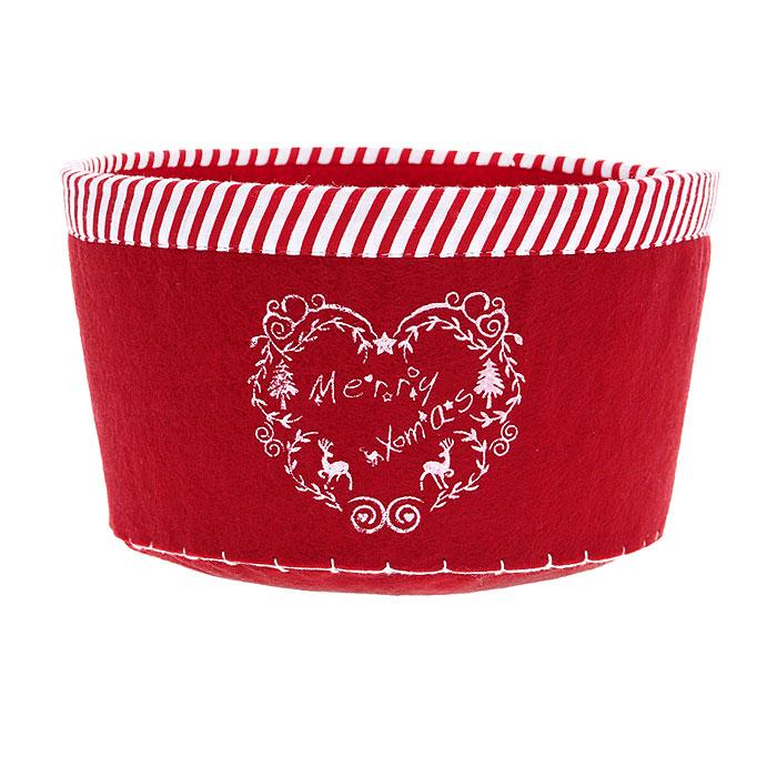 """Сухарница House & Holder """"Merry Christmas"""", цвет: красный. 117002"""