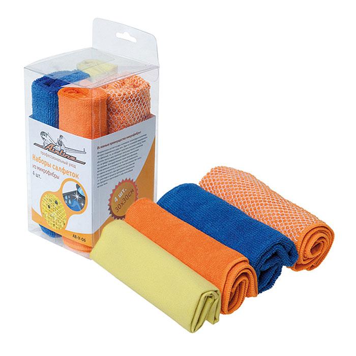 Набор салфеток Airline для уборки, 30 см х 30 см, 4 шт. AB-V-06AB-V-06Салфетки Airline из микрофибры великолепно удаляют пыль и грязь с любых поверхностей. Могут использоваться не только для мытья, но и для полировки различных поверхностей. Впитывают гораздо больше воды, чем обычная ткань. Характеристики:Материал: 80% полиэстер, 20 % полиамид.Размер слфетки: 30 см х 30 см.Комплектация: 4 шт.Размер упаковки: 8,5 см х 16,5 см х 8,5 см. Артикул:AB-V-06.