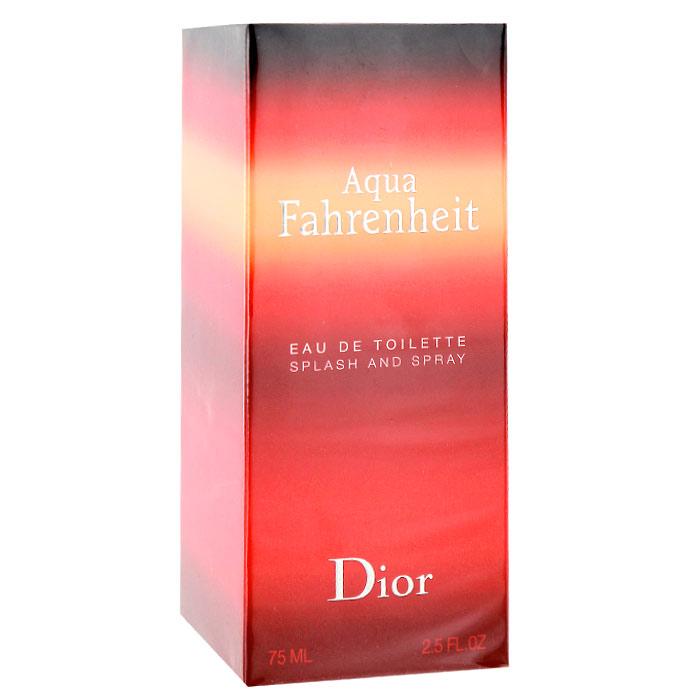 Christian Dior Fahrenheit Aqua. Туалетная вода, мужская, 75 млF026623009Решительный современный Christian Dior Fahrenheit Aqua - мужественный запах, для тех, кто ищет новую свежесть. Свежие, элегантные ноты Aqua Fahrenheit от Диор смешиваются в совершенную гармонию, чтобы создать теплый, прозрачный и неповторимый аромат. Аромат открывается водными нотами, а оставляет огненный шлейф, это уникальное сочетание двух мощных стихий.Классификация аромата: цветочный, древесный, мускусный.Пирамида аромата:Верхние ноты: грейпфрут, мандарин.Ноты сердца: фиалка, тосканский базилик, голубая мята.Ноты шлейфа: ветивер, кожа.Ключевые словаМногогранный, неповторимый, прозрачный, свежий! Характеристики:Объем: 75 мл. Производитель: Франция. Туалетная вода - один из самых популярных видов парфюмерной продукции. Туалетная вода содержит 4-10%парфюмерного экстракта. Главные достоинства данного типа продукции заключаются в доступной цене, разнообразии форматов (как правило, 30, 50, 75, 100 мл), удобстве использования (чаще всего - спрей). Идеальна для дневного использования. Товар сертифицирован.