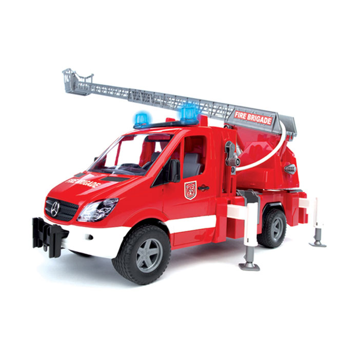 Bruder Пожарная машина с лестницей машинки hti паровозик roadsterz синий с вагоном звуковыми и световыми эффектами