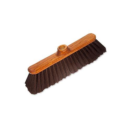 Щетка York Eco, без ручки. 50065006Щетка York Eco изготовлена из дерева, покрытого лаком, и предназначена для уборки сухого мусора. Щетка оснащена универсальной резьбой, которая подходит ко всем видам ручек. Упругий и длинный ворс позволит собрать мусор из самых труднодоступных мест. Характеристики:Материал: дерево, полимеры. Размер щетки: 27 см х 4,5 см. Длина ворса: 6,5 см. Диаметр отверстия под ручку: 2,2 см. Артикул: 5006.