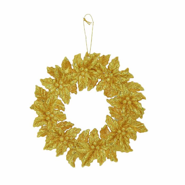 Новогоднее подвесное украшение Феникс-презент Венок, цвет: золотистый, диаметр 13 смФ21-1631Подвесное украшение Феникс-презент Венок, выполненное из пластика, прекрасно подойдет для праздничного декора вашей ели. Оригинальное новогоднее украшение в виде снежинки оформлено блестками. С помощью специальной текстильной петельки его можно повесить в любом понравившемся вам месте. Но удачнее всего такая игрушка будет смотреться на праздничной елке. Елочная игрушка - символ Нового года и Рождества. Она несет в себе волшебство и красоту праздника. Создайте в своем доме атмосферу веселья и радости, украшая новогоднюю елку нарядными игрушками, которые будут из года в год накапливать теплоту воспоминаний.