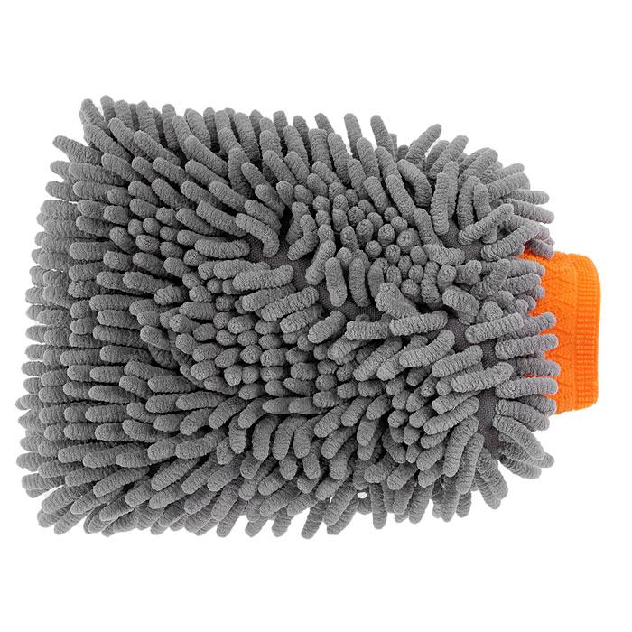 Варежка Шиншилла для мытья автомобиля, цвет: серый. AB-D-01 миниатюра варежка цвет серебристый 6 см