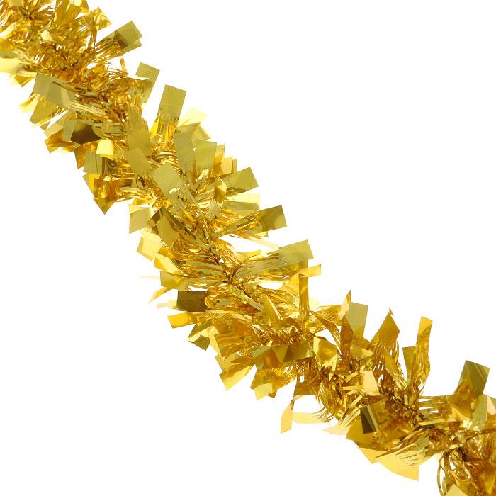 Новогодняя мишура Феникс-Презент, диаметр 5 см, длина 200 см, цвет: желтый. 26952 мишура новогодняя eurohouse праздничная цвет сиреневый серебристый диаметр 9 см длина 200 см