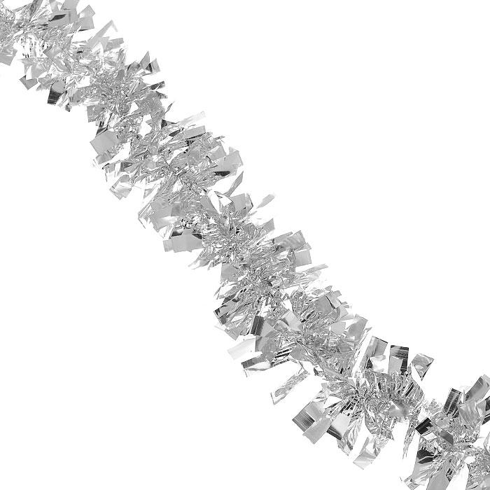 Новогодняя мишура Феникс-Презент, диаметр 5 см, длина 200 см, цвет: серебряный. 2695326953Яркая новогодняя мишура с неразрезанными кончиками-липесточками поможет Вам реализовать самые экстравагантные дизайнерские идеи, украсив стены, потолок, архитектурные элементы, проемы окон и дверей. Мишура армирована, то есть имеет проволоку внутри и способна сохранять приданную ей форму. Она способна отразить блеск огней елочных гирлянд и добавить волшебства в праздничный интерьер квартиры. Создайте в своем доме атмосферу тепла, веселья и радости, украшая его всей семьей. Характеристики:Длина: 200 см. Диаметр: 5 см. Артикул: 26953. Изготовитель: Китай.
