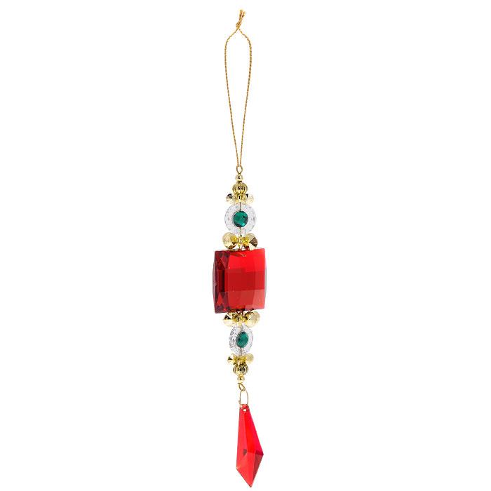 Новогоднее подвесное украшение Подвеска. 2578225782Яркое новогоднее украшение, переливающееся разноцветными огнями, поможет в декорации вашего дома или новогодней ели. Выполнено из легкого пластика в виде подвески с большим красным камнем. Благодаря плотному корпусу изделие никогда не разобьется, поэтому вы можете быть уверены, что оно прослужит вам долгие годы. Елочная игрушка - символ Нового года. Она несет в себе волшебство и красоту праздника. Создайте в своем доме атмосферу веселья и радости, украшая всей семьей новогоднюю елку нарядными игрушками, которые будут из года в год накапливать теплоту воспоминаний.Характеристики:Материал:пластик. Размер:3 см х 15 см х 1 см. Размер упаковки:10 см х 10 см х 1 см. Артикул: 25782. Изготовитель: Китай.