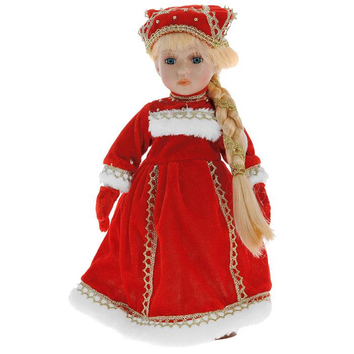 Декоративная керамическая кукла, на подставке, 31 см. Ф21-2170 кукла yako m6579 6