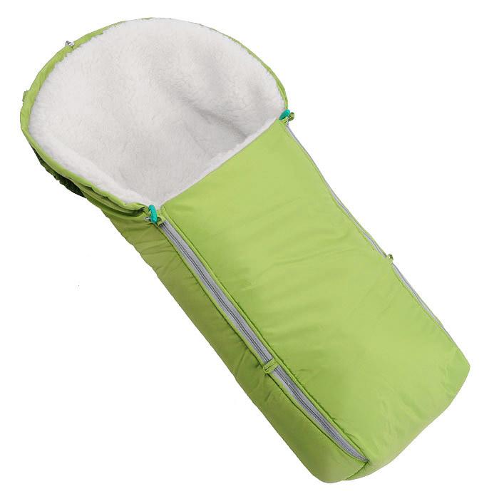 Конверт в коляску Чудо-Чадо, цвет: зеленый. ККМ_04-000. Размер универсальныйККМ_04-000Теплый конверт в коляску Чудо-Чадо порадует даже самых требовательных мам и согреет малыша в любую зимнюю стужу. Мягкий уютный конверт скрасит ненастные осенние и зимние дни и обеспечит защиту малыша от снега и дождя, благодаря ветрозащитной и водонепроницаемой ткани. Конверт не сковывает и не ограничивает положение ног. Изготовленный из 100% полиэстера верхний материал защищает от ветра, дождя и снега. Подкладка конверта выполнена из мягкого меха с содержанием овечьего чеса, который хорошо сохраняет тепло. Верхняя часть может использоваться в качестве капюшона в ветреную или холодную погоду или надеваться на спинку коляски. Капюшон легко стягивается скрытым шнурком со стоппером. К спинке носителя он надежно закрепляется эластичными ремешками на кнопках, которые не дают сползти конверту вниз, они легко отстегиваются, если вы используете конверт как люльку.Эта модель застегивается на две боковые застежки-молнии, за счет чего значительно упрощается процесс одевания. В верхней части молний находятся оригинальные пуговицы. Конверт заменит лишние теплые кофточки и штанишки, и, значит, свободу малыша ничто не будет ограничивать. А если ваш малыш свободолюбив, и любит сидеть с высунутыми ручками, молнии можно немного расстегнуть, оставив застегнутыми верхние пуговички, или немного отогнуть край и зафиксировать его пуговицами к дополнительным петелькам. При этом ручки свободны, а ребенок надежно укрыт!Подходит ко всем типам санок, колясок для новорожденных и к большинству прогулочных.