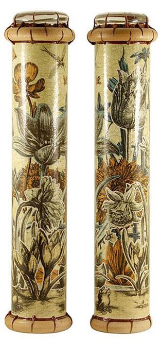"""Калейдоскоп """"Цветы. Гравюра"""" (Печать, дерево, цветное стекло, зеркала, акрил). Ручная авторская работа"""