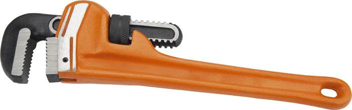 Ключ трубный Neo типа Stillson, 300 мм02-104Ключ трубный Neo используется для монтажа и демонтажа у трубных резьбовых соединений. Ключ эффективен в работе благодаря его специальной усиленной конструкции. Характеристики: Материал: металл. Длина ключа: 30 см. Максимальное ширина захвата: 7 см. Размеры упаковки:29 см 8 см х 3 см.