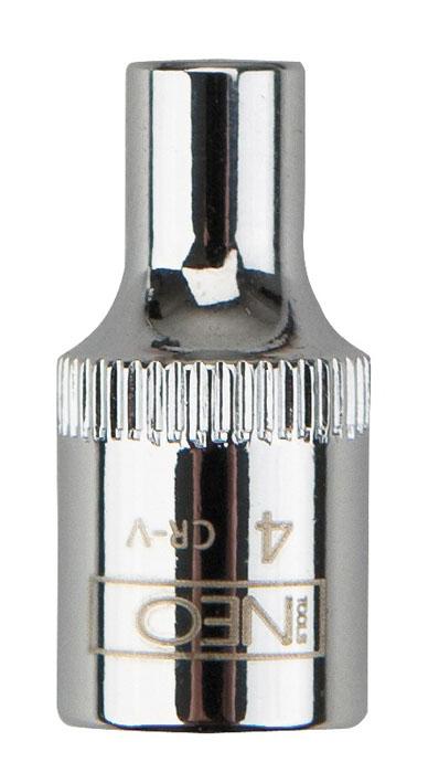 Головка торцевая Neo 1/4, 7 мм08-225Головка торцевая Neo применяется для монтажа/демлнтажа резьбовых соединений. Станет отличным помощником монтажнику или владельцу авто. Этот инструмент обеспечит надежную фиксацию на гранях крепежа. Характеристики: Материал: хром-ванадий. Диаметр головки:7 мм. Размер переходника: 1/4. Размер упаковки:8,5 см х 4,5 см х 1 см.