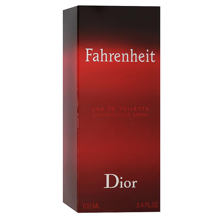 Christian Dior Fahrenheit Туалетная вода, мужская, 100 млF006624009Мужчина Fahrenheit - это сложная эмоциональная натура. В нем мужественность открывается силой и уверенностью, сомнениями и переживаниями. Он чувственный и раскрепощенный. Fahrenheit - это аромат нового состояния души. Для композиции характерна гармония контрастов: свежие ноты сочетаются с теплыми и насыщенными, чувственные с деликатными, классические с ультрасовременными. Это аромат динамичной жизни и дальних странствий. Аромат романтиков и оптимистов. Букет аромата узнаваем и неповторим. У него много поклонников и их ряды год от года только увеличиваются.Классификация аромата: древесный.Пирамида аромата:Верхние ноты: бергамот, мандарин.Ноты сердца:листья фиалки, мускатный орех, гвоздика.Ноты шлейфа:кожа, пачули, ветивер.Ключевые слова:Волнующий, мужественный, теплый! Характеристики:Объем: 100 мл. Производитель: Франция. Туалетная вода - один из самых популярных видов парфюмерной продукции. Туалетная вода содержит 4-10%парфюмерного экстракта. Главные достоинства данного типа продукции заключаются в доступной цене, разнообразии форматов (как правило, 30, 50, 75, 100 мл), удобстве использования (чаще всего - спрей). Идеальна для дневного использования. Товар сертифицирован.