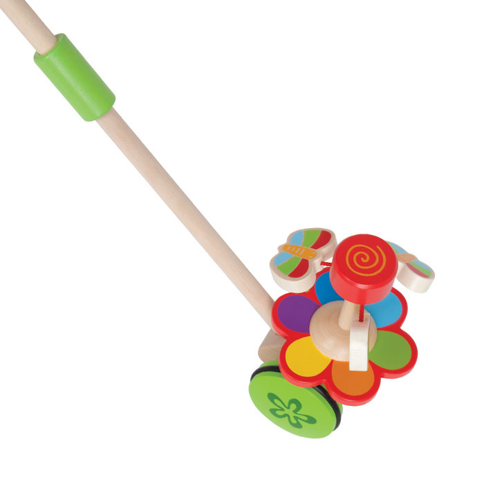 Игрушка-каталка Hape Бабочки в саду настольные игры hape игрушка паллина