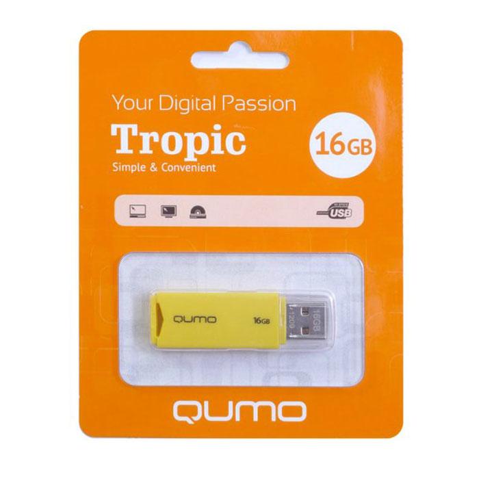 QUMO Tropic 16GB, YellowQM16GUD-TRP-YellowQUMO Tropic — это стильная флэшка, а также удобный помощник в хранении и переносе данных. Вы сможете легко хранить, систематизировать и делиться с друзьями своими фотографиями.