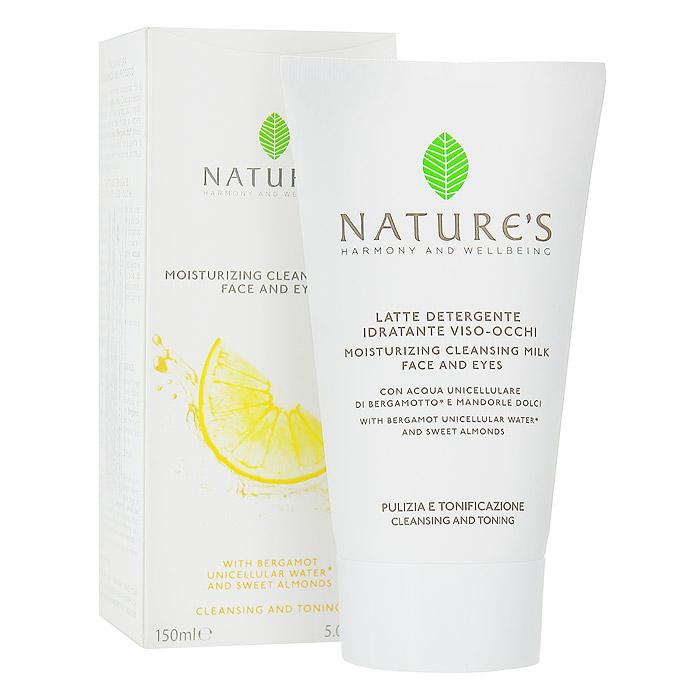 Nature's Увлажняющее, очищающее молочко для лица и глаз, 150 мл