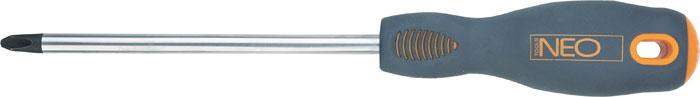 Отвертка крестовая Neo, PН3 x 150 мм04-026Отвертка крестовая Neo предназначена для монтажа/демонтажа резьбовых соединений. Имеет удобную эргономичную ручку и магнитный наконечник. Характеристики: Материал: пластик, резина, хромомолибден. Длина отвертки: 15 см. Длина ручки: 12 см. Размеры упаковки: 27 см х 4 см х 4 см.