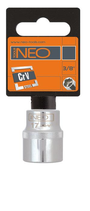 Головка торцевая Neo 3/8, 17 мм08-117Головка торцевая Neo применяется для монтажа/демлнтажа резьбовых соединений. Станет отличным помощником монтажнику или владельцу авто. Этот инструмент обеспечит надежную фиксацию на гранях крепежа. Характеристики: Материал: хром-ванадий. Диаметр головки: 17 мм. Размер переходника: 3/8. Размер упаковки:9 см х 4,5 см х 2,5 см.