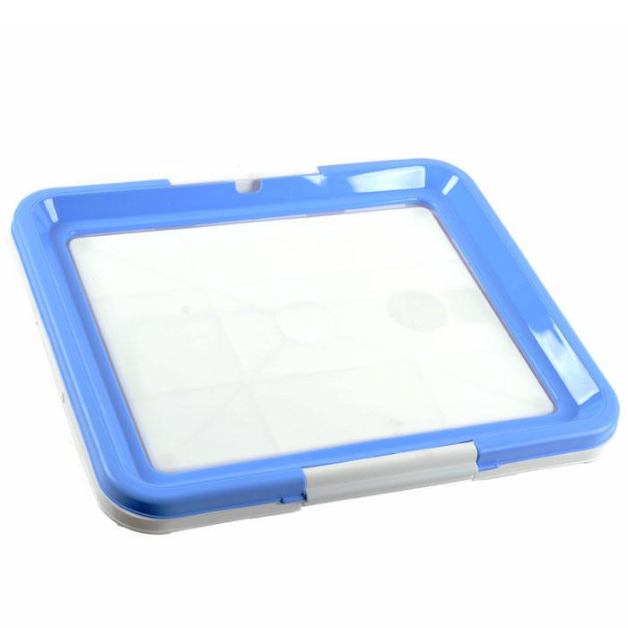 Туалетный лоток для собак Triol, цвет: белый, голубойМт-512 / Р549 голубойТуалетный лоток Triol прямоугольной формы предназначен для маленьких собак комнатных пород, совершающих гигиенические процедуры в помещении. Такой туалет хорошо подойдет для щенков любых пород, еще не научившихся дожидаться выгула, а также будет очень удобен в путешествии. Туалетные лотки очень удобно использовать со впитывающими пеленками. Лоток снабжен фиксаторами, прочно удерживающими пеленку на лотке. Характеристики:Материал:пластик. Размер:48 см х 42 см х 4 см. Размер упаковки: 49 см х 43 см х 4 см. Производитель: Китай. Артикул: Р549.