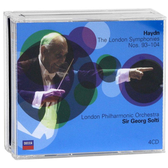 Фото - Георг Шолти,The London Philharmonic Orchestra Sir Georg Solti, London Philharmonic Orchestra. Haydn. The 12 London Symphonies (4 CD) cafe london 2 cd
