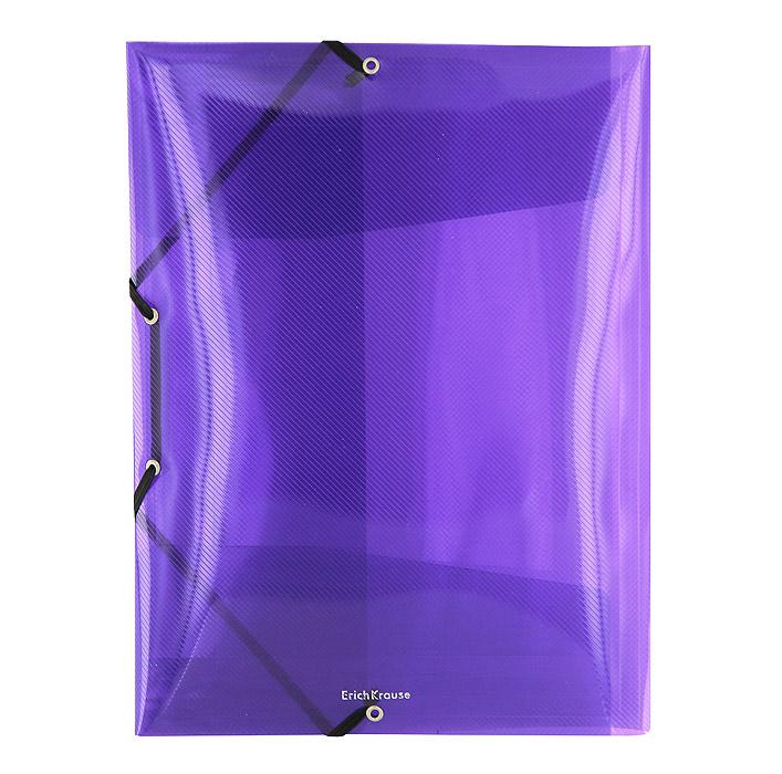 Папка на резинке Erich Krause Diagonal, цвет: фиолетовый14392Папка Erich Krause Diagonal с тремя клапанами - удобный и практичный офисный инструмент, предназначенный для хранения и транспортировки рабочих бумаг и документов формата А4. Папка изготовлена из полупрозрачного глянцевого пластика фиолетового цвета срифленой поверхностью и закрывается при помощи угловых резинок. Согнув клапаны по линии биговки, можно легко увеличить объем папки, что позволит вместить большее количество документов. С такой папкой ваши документы всегда будут в полном порядке! Характеристики:Материал: пластик, текстиль. Цвет: фиолетовый. Размер папки: 32 см х 22,5 см x 3,5 см. Изготовитель: Китай.