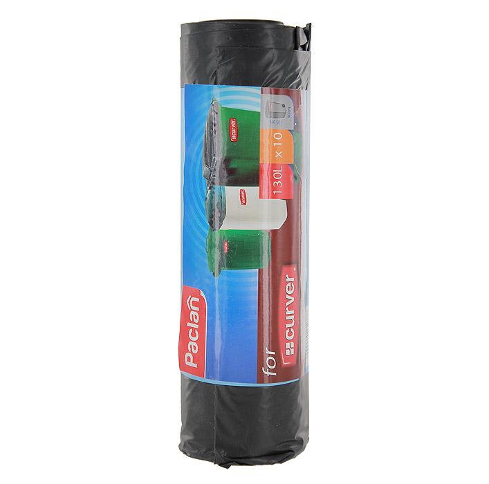 Пакеты для мусора Curver, цвет: черный, 130 л, 10 шт пакеты для мусора curver 130л 10шт 1115293