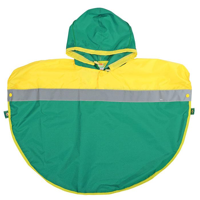 Дождевик детский Чудо-Чадо Светлячок, цвет: зеленый, желтый. NAC09. Размер 110/116