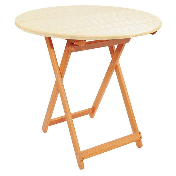 Стол складной Банные штучки для бани и сауны, круглый, большой, цвет: светлое дерево32187Складной стол Банные штучки, выполненный из натуральной древесины сосны, прекрасно подойдет для бани или сауны. В сложенном виде стол имеет компактные размеры. Разбирается и легко устанавливается, не требуя специальных навыков.Характеристики:Материал: дерево (сосна), металл. Размер стола в разобранном виде (Д х Ш х В): 80 см х 80 см х 75 см. Толщина досок на столешнице: 12-14 мм (с усилением поперечными планками 12 мм. Размер упаковки: 83,5 см х 80 см х 8,5 см.Артикул: 32187.