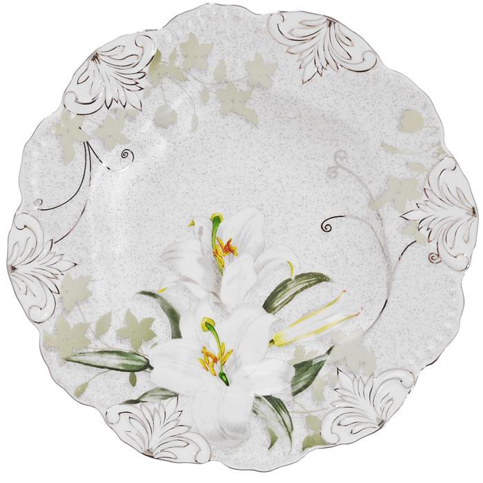 Блюдо фигурное Моцарт, диаметр 20,5 смGW 08017-30J52Блюдо Моцарт, изготовленное из высококачественного фарфора, оформлено изображением белых линий и барельефным узором с серебристой эмалью в виде изящных линий. Такое блюдо украсит сервировку вашего стола и подчеркнет прекрасный вкус хозяйки, а также станет отличным подарком. Блюдо Моцарт упаковано в стильную подарочную картонную коробку с логотипом компании. Характеристики:Материал: фарфор. Диаметр блюда:20,5 см. Размер упаковки: 23 см х 23 см х 5 см. Артикул: GW 08017-30J52.