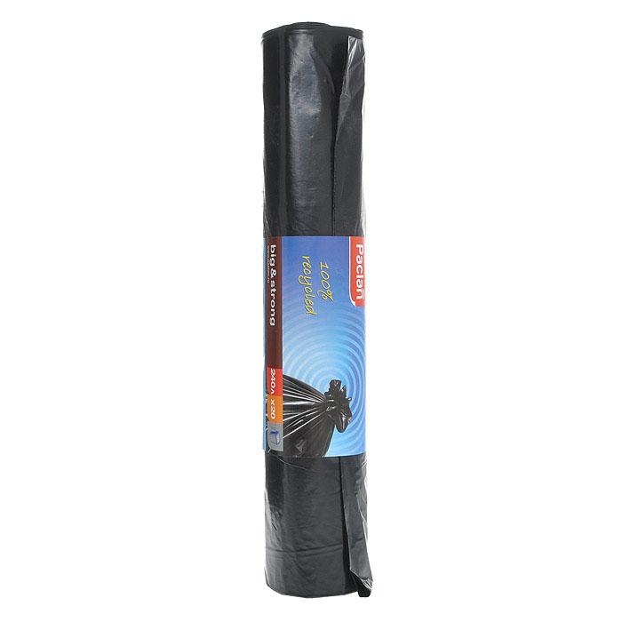 Пакеты для мусора Big & Strong, цвет: черный, 240 л, 20 шт пакеты для мусора 20 шт 120 л с ручками завяжи выброси полиэтилен
