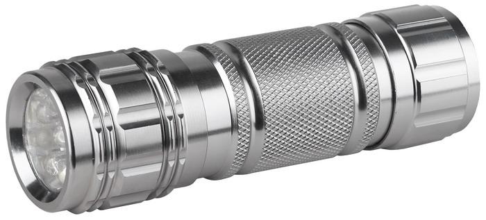 Светодиодный алюминиевый фонарь ЭРА SD9C0027216Светодиодный фонарь ЭРА SD9 имеет прочный ударостойкий корпус из анодированного алюминия, а также оснащен 9 яркими светодиодами. Характеристики:Материал: металл. Размер упаковки: 17 см х 3 см х 12 см. Размер фонаря: 10 см х 2 см х 2 см.