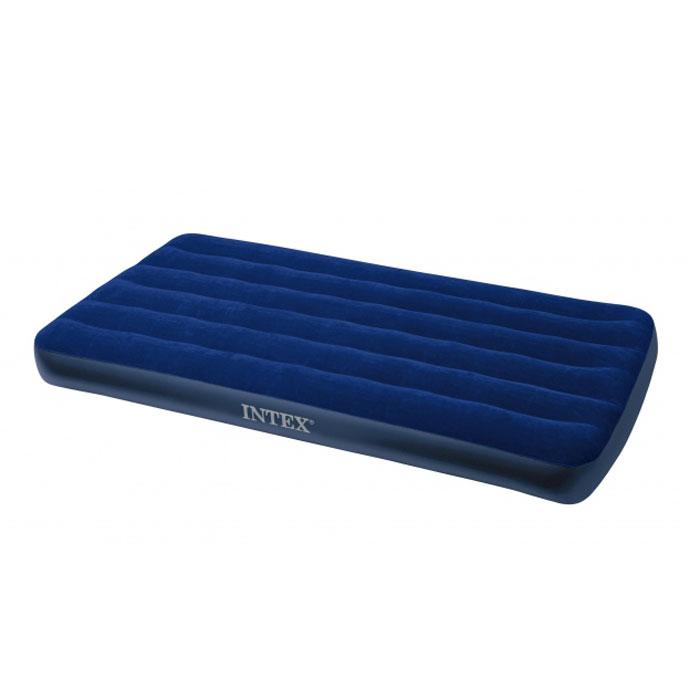Матрас надувной Intex Royal, 99 см х 191 см х 22 см68757Матрас флокированный Royal.Надувная кровать INTEX - это действительно кровать на все случаи жизни. Она прекрасно подойдёт для использования дома в качестве дополнительного спального места. К Вам приехал гость, прекрасно, спальное место уже готово, только добавьте воздух! Если Вы собираетесь в поездку на дачу, в поход, на пикник, то такая надувная кровать окажется очень кстати - Вы прекрасно отдохнёте на ней и днём, и ночью, а оказавшись на водоёме, сможете использовать её на воде, ведь она создана и для этого. Гарантия производителя: 30 дней. Характеристики:Материал:ПВХ. Максимальная нагрузка: 136 кг. Размер матраса:99 см х 191 см х 22 см. Размер упаковки:31 см х 8 см х 28 см.