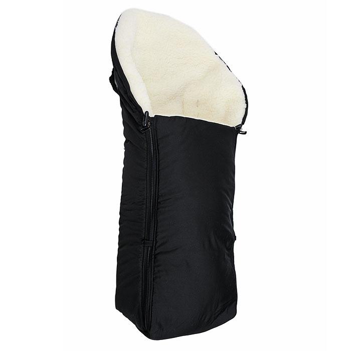 Конверт в коляску Чудо-Чадо, цвет: черный(мех). ККМ_08-000. Размер универсальный