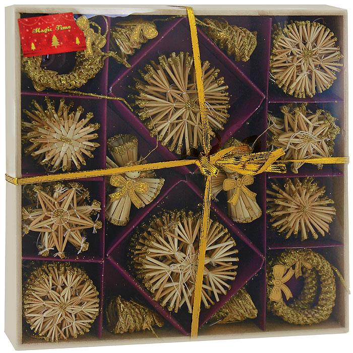 Набор новогодних подвесных украшений Magic Time, 56 предметов. 19981 набор новогодних подвесных украшений magic time розовые кеды 4 х 1 х 2 см 4 шт