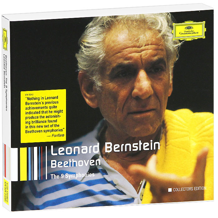 Леонард Бернштейн,Рене Колло,Гвинет Джонс,Vienna Philharmonic Orchestra Leonard Bernstein. Beethoven: The 9 Symphonies (5 CD) cd blu ray leonard bernstein beethoven fidelio op 72