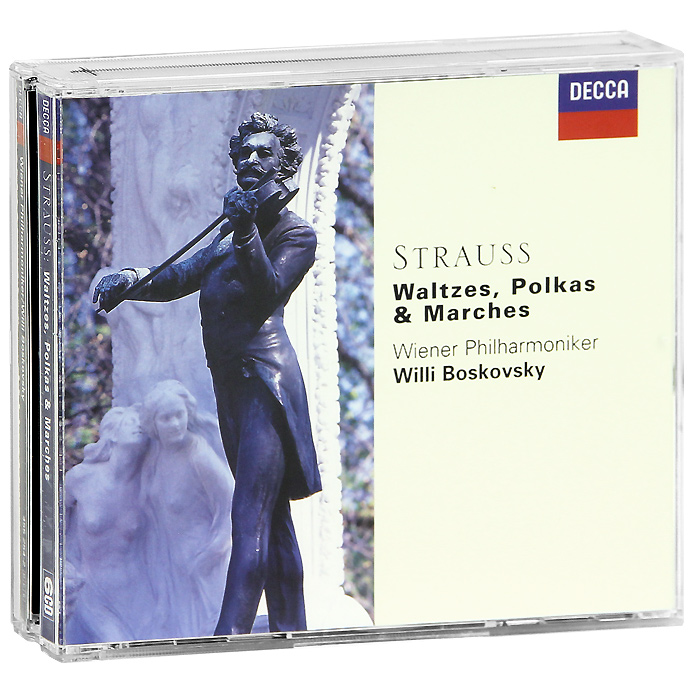 Вилли Босковски,Wiener Philharmonic Willi Boskovsky, Wiener Philharmonic. Strauss. Waltzes, Polkas & Marches (6 CD) николаус арнонкур nikolaus harnoncourt strauss ii waltzer polkas and marches