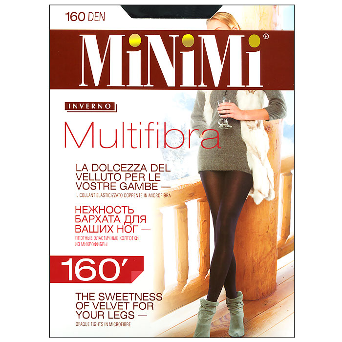 Колготки Minimi Multifibra 160, цвет: черный (Nero). Размер 5