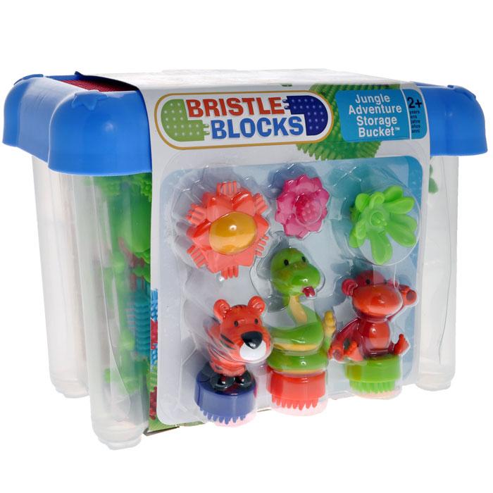 Bristle Blocks Конструктор игольчатый Путешествие в джунглях 58 деталей - Игрушки для малышей