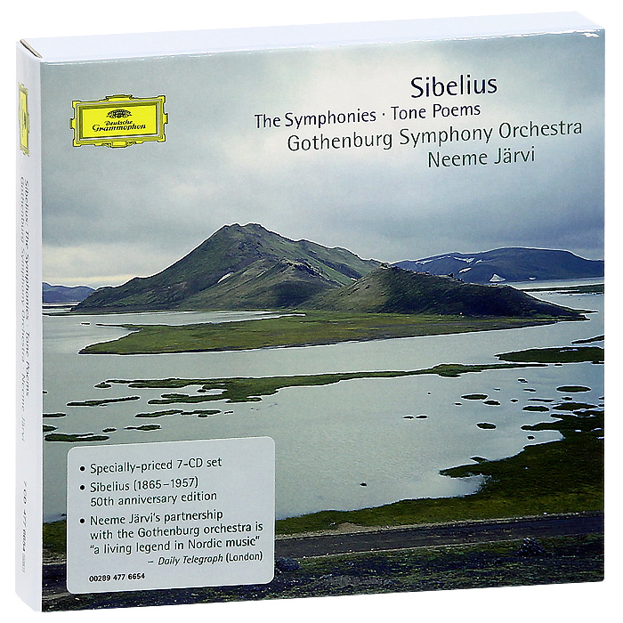 Неэме ЯрвиGothenburg Symphony Orchestra Neeme Jarvi Sibelius The Symphonies  Tone Poems 7 CD
