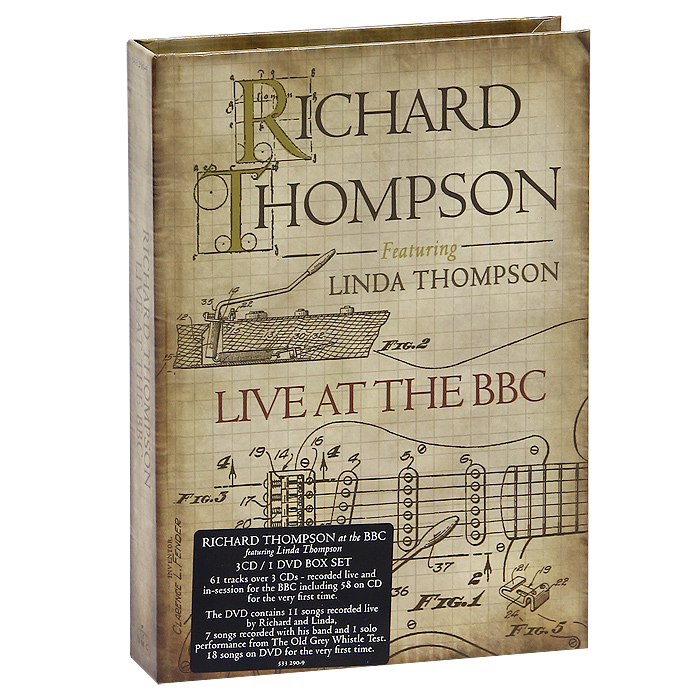 Ричард Томпсон Richard Thompson. Live At The BBC (3 CD + DVD) mini infrared motion sensor led night lights wall lamps