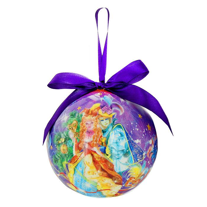 Новогоднее подвесное украшение Маскарад. 020303020303Новогоднее подвесное украшение Маскарад изготовлено из ПВХ и выполнено в виде елочного шара, оформленного изображением масок, серпантина, фейерверков и людей в маскарадных костюмах. Благодаря атласной ленточке, украшение можно повесить в любом месте.Новогоднее украшение отлично подойдет для декорации вашего дома и новогодней ели. Оригинальный дизайн и красочное исполнение создадут праздничное настроение. Подвесное украшение упаковано в стильную подарочную коробку. Характеристики:Материал:ПВХ, текстиль. Диаметр украшения:12 см. Размер упаковки:17,5 см х 12,5 см х 12,5 см. Артикул:020303. Компания Незабудка занимается продажей новогодних украшений и детских игрушек. Большинство украшений сделано по собственным дизайн - проектам. Шары, луковки, сосульки, выполненные какв классических расцветках, так и в современных дизайнерских решениях - великолепные цветочные орнаменты, с иллюстрациями к русским сказкам. В ассортименте компании так же представлены украшения для комнатных елей, праздничного убранства офисов, крупные игрушки для больших елей и оформления торговых центров. Эти украшения изготовлены из современных экологически безопасных искусственных материалов.